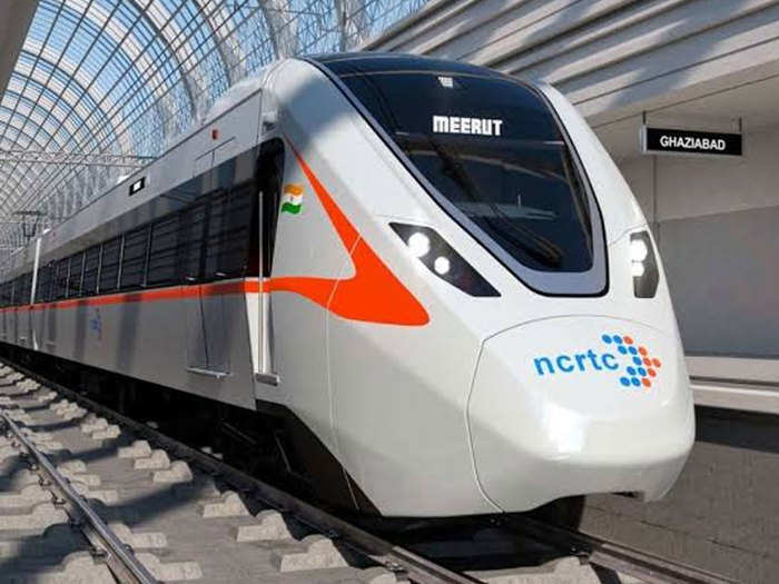 first look of high speed train which will run between delhi and meerut
