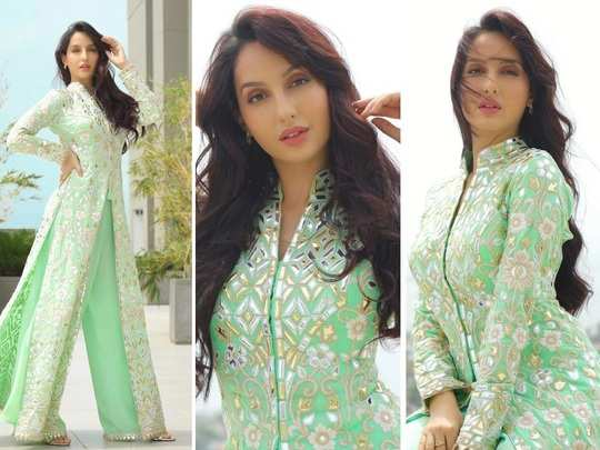 bollywood actress nora fatehi looks beautiful in her latest photoshoot in marathi