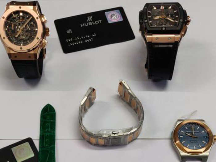 WATCHES seized by custom