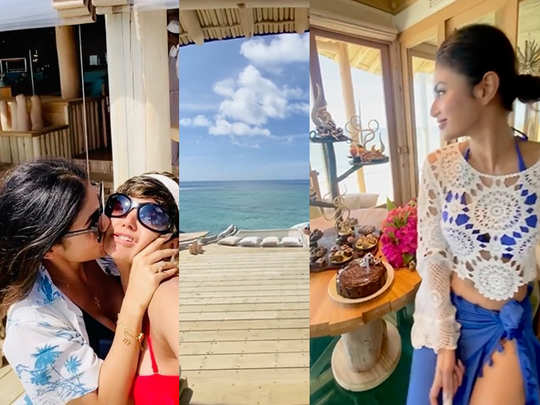 Mouni Roy Mandira Bedi in Maldives