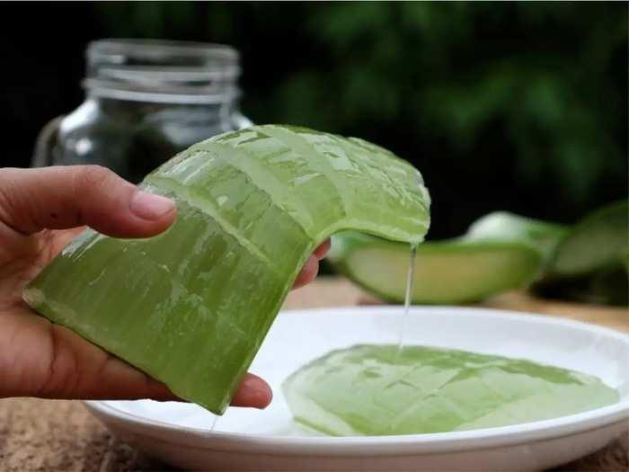 how to make aloe vera gel from fresh aloe vera leaves at home in marathi