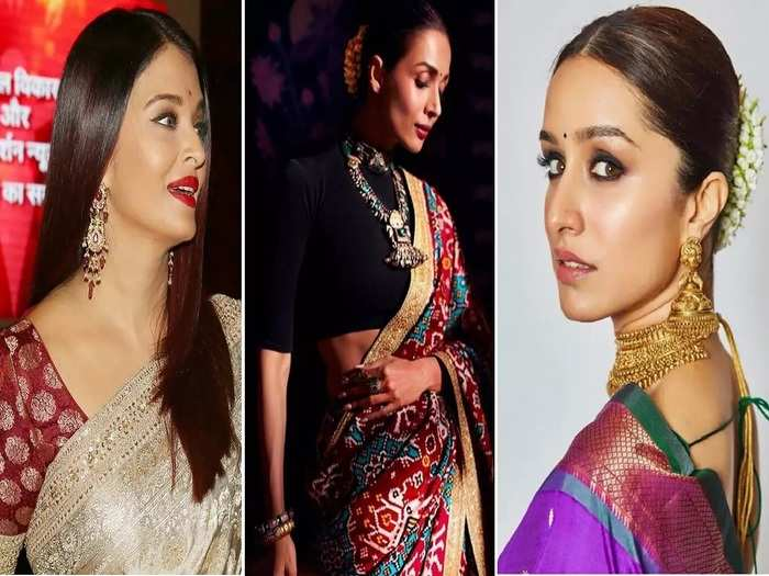 fashion tips different types of traditional Indian sarees in Marathi