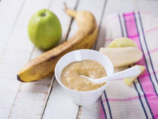 apple and banana dalia for babies in hindi