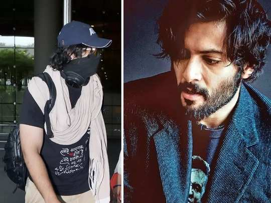 actor ali fazal wore dreams message print t shirt see his latest photo in marathi