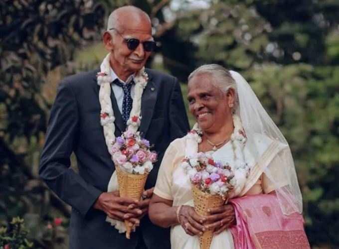 58 વર્ષે લગ્નનું ફોટોશૂટ