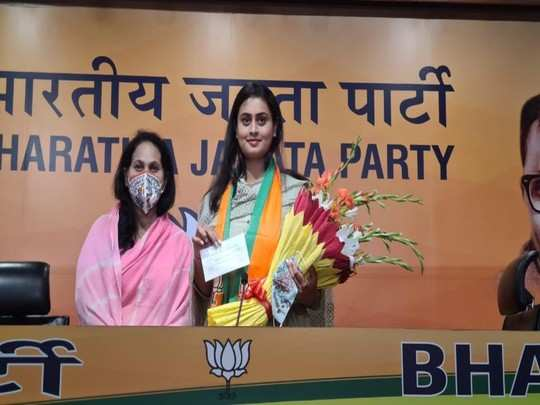 shreyashi singh may be contesting from jamui assembly seat: shreyashi singh joins bjp with mother putul singh