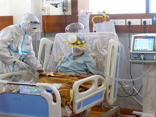 COVID patients treated in an ICU of a Delhi NCRs Hospital