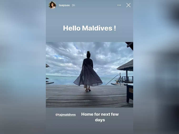 Taapsee Pannu On Vacation