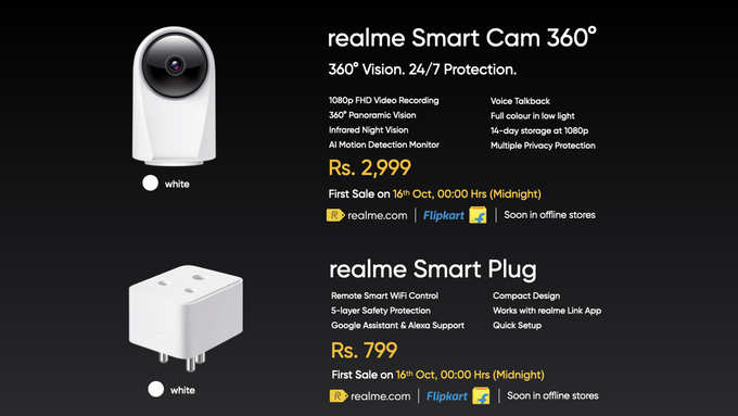 Realme smart plug realme Smartcam