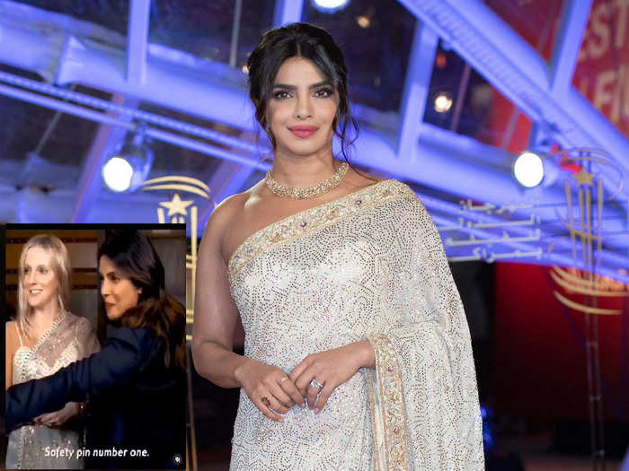 when priyanka chopra taught foreigner how to wear saree with three safety pins