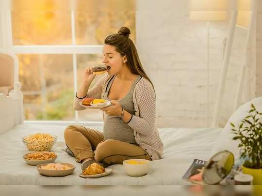 why does appetite increase during pregnancy in marathi