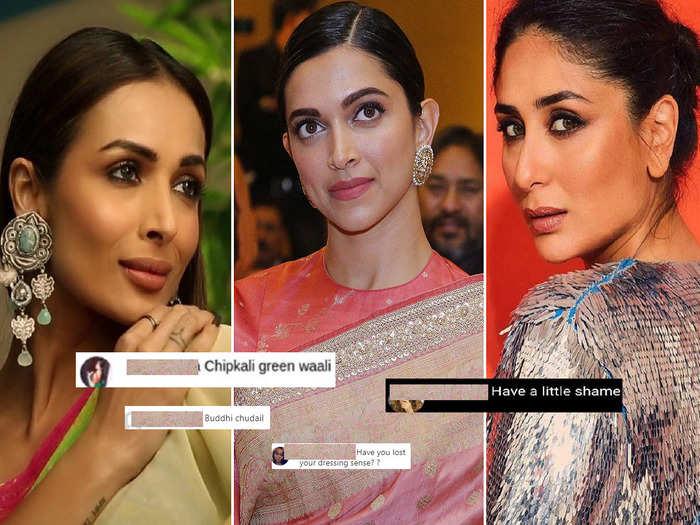 from aishwarya rai bachchan to malaika arora and deepika padukone actresses who got trolled for their clothes