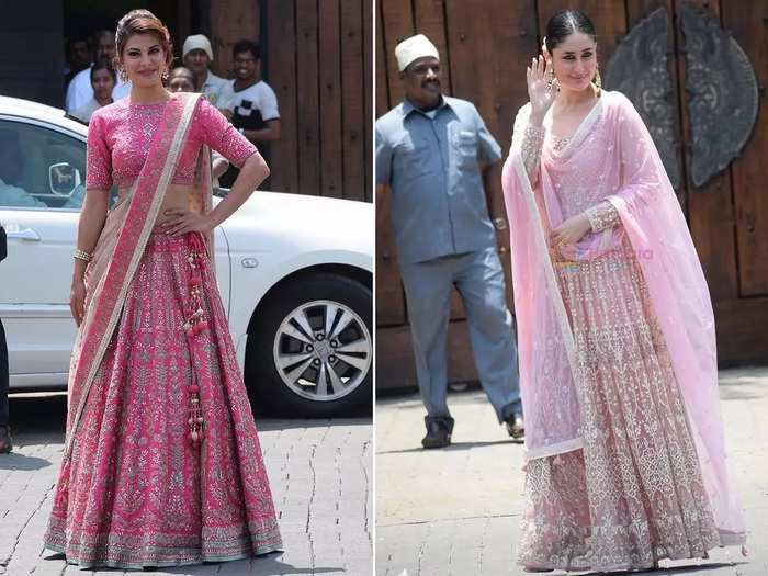 jacqueline fernandez and kareena kapoor wore expensive outfit in sonam kapoor wedding know its cost in Marathi