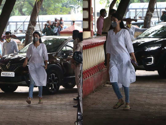 rhea chakraborty snapped at santacruz police station a day after she was released on bail
