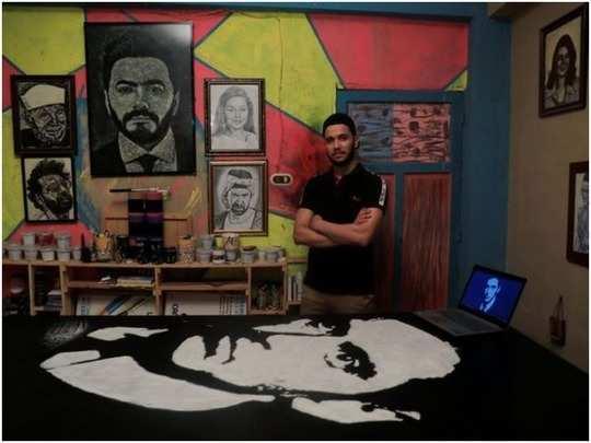 artist uses salt to create artworks of celebrities