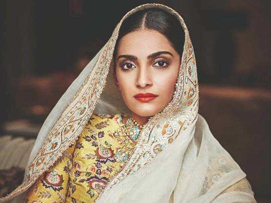 sonam kapoor trolled for distressed denim sari by diksha khanna