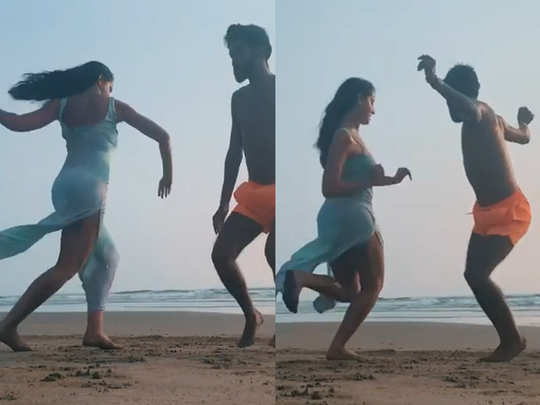 Nora Fatehi dance video on the beach
