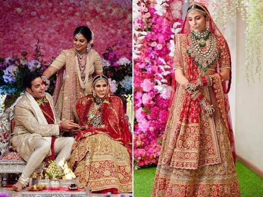 nita ambani daughter in law shloka mehta gorgeous wedding jewellery see photos in marathi