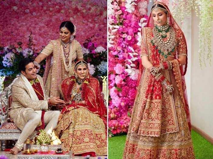 nita ambani daughter in law shloka mehta gorgeous wedding jewellery see photos in marathi