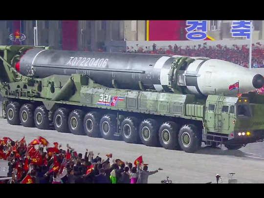north korea presents new intercontinental ballistic missile at military parade