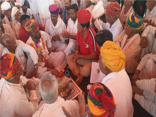 21 lakhs collected in the thanksgiving meeting of the candidate who lost the rajasthan panchayat election by emotional voters