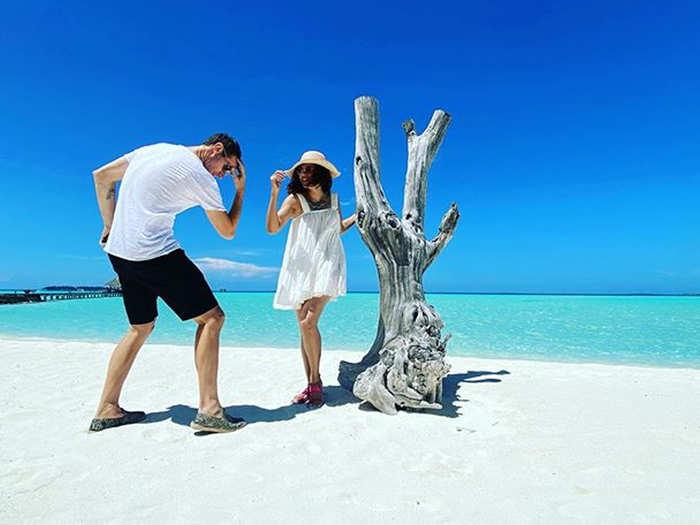 Taapsee Pannu Maldives vacation