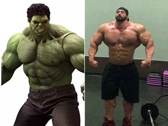 huge body builder looks like real life hulk