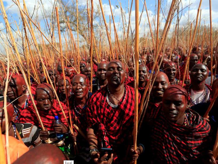 african brave maasai tribal community in tanzania that kills lions barehand