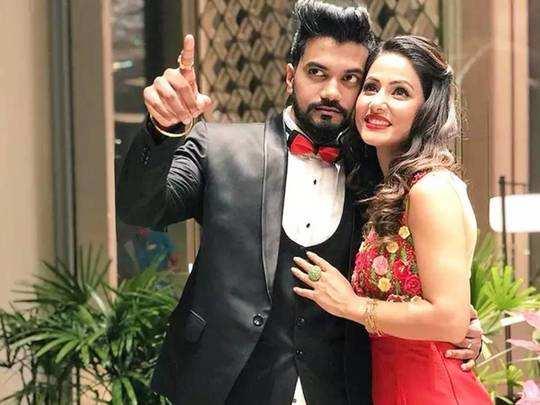 hina khan-rocky jaiswal relationship and cute bonding