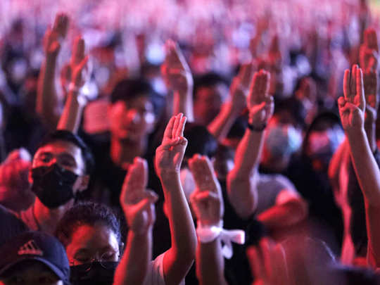 thailand all you need to know about the three finger salute from hunger games by pro democracy protests