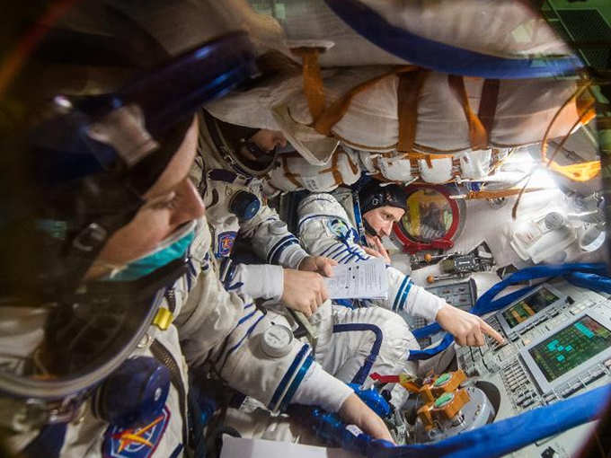 Astronaut off to ISS