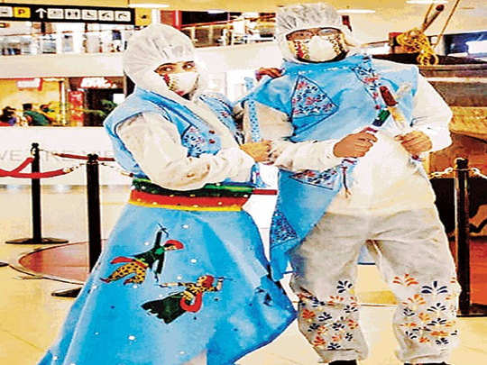 ppe kits garba dress in gujarat for navratri