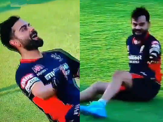 virat kohli hilarious dance moves before match against kings xi punjab video clip viral
