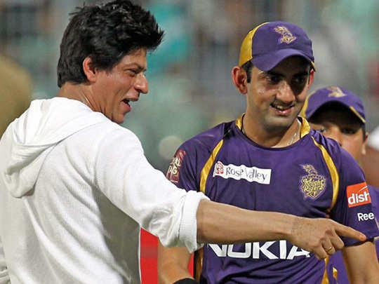 gautam gambhir with shahrukh khan