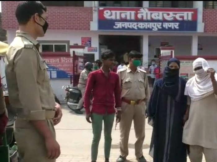 पुलिस गिरफ्त में आरोपी भाई-बहन