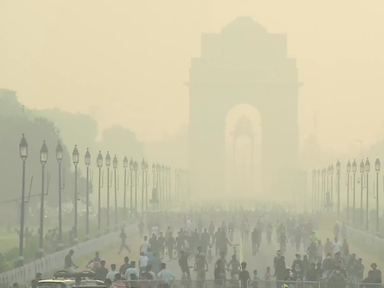 some relief to delhiites, but mist in sky, aqi also shows effect