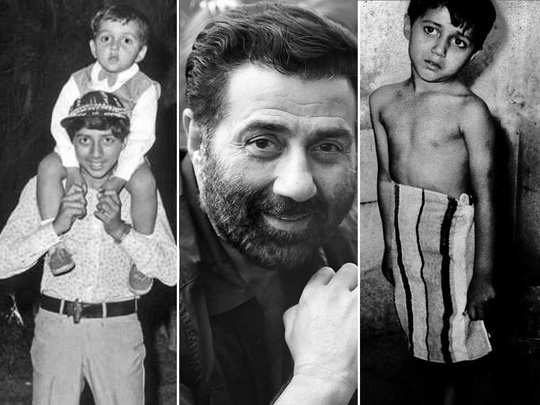 sunny deol childhood pictures and his life journey
