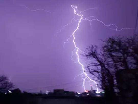 heavy rain with lightning
