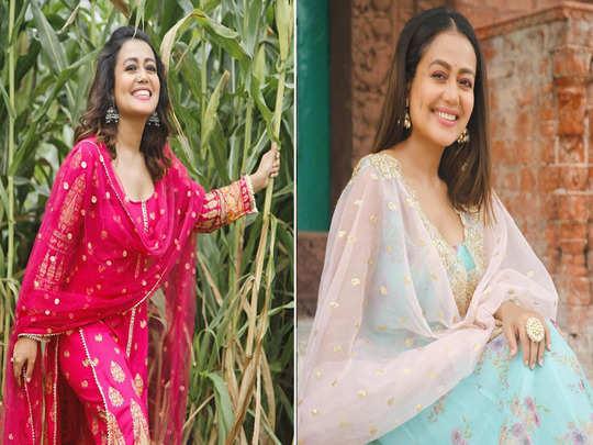 neha kakkar salwar suits to look beautiful and remain comfortable this navratri