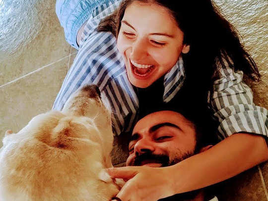 Virat Kohli shared a romantic picture with anushka
