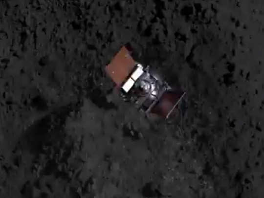 nasa osiris rex spacecraft kisses asteroid bennu in an attempt to collect sample