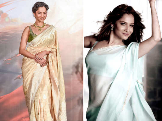 ankita lokhande saree looks which will win your heart