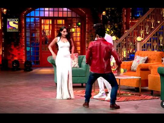 the kapil sharma show nora fatehi killer dance on naach meri rani with kapil sharma leaves guru randhawa stunned