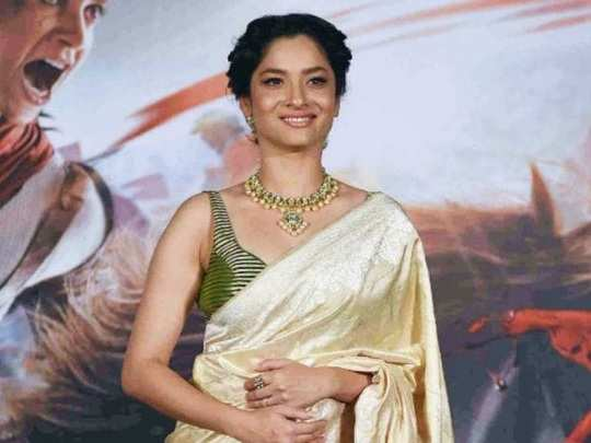 ankita lokhande gorgeous saree look see photos in marathi