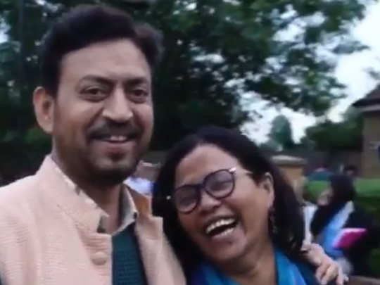 old video of Irrfan khan with wife