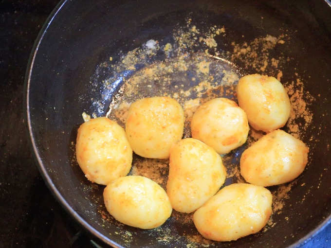 Fry Potatoes For 2 Minutes