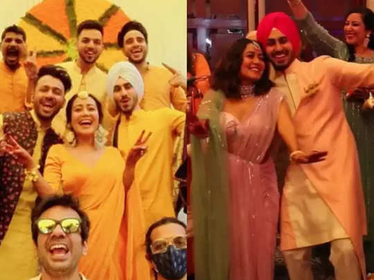 neha kakkar wedding celebrations begin with rohanpreet singh see pics from haldi mehendi and roka