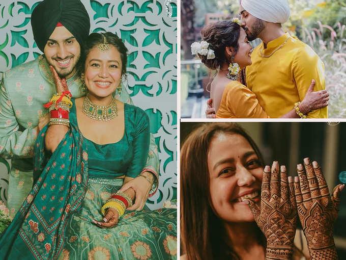 नेहा कक्कड़ की शादी से पहले की सभी रस्मों की तस्वीरें