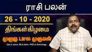 இன்றைய ராசி பலன் - 26 / 10 / 2020 | தினப்பலன்
