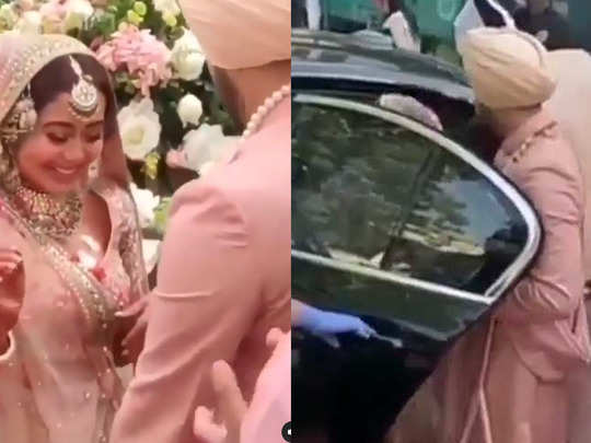 this video of newly married neha kakkar from her vidaai will move your hearts rohanpreet gestures win hearts